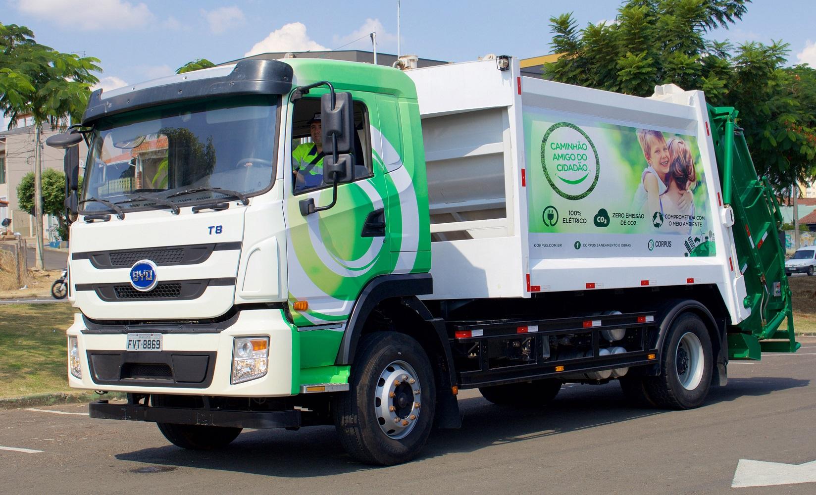 3d80c98a4ed Empresa terá frota de caminhões de lixo totalmente elétricos