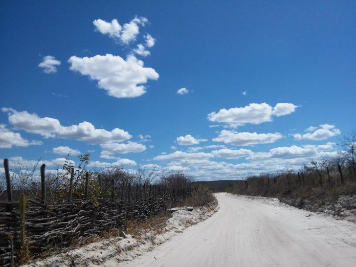 estrada de terra na caatinga
