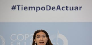 ministra do Meio Ambiente do Chile, Carolina Schmidt, na COP25