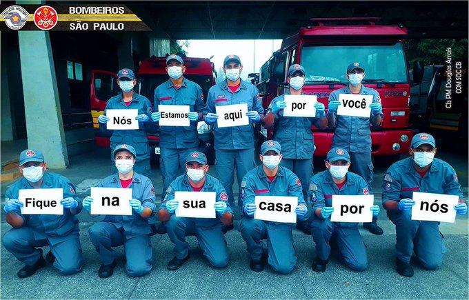 Foto- twitter do Corpo de Bombeiros de S.Paulo