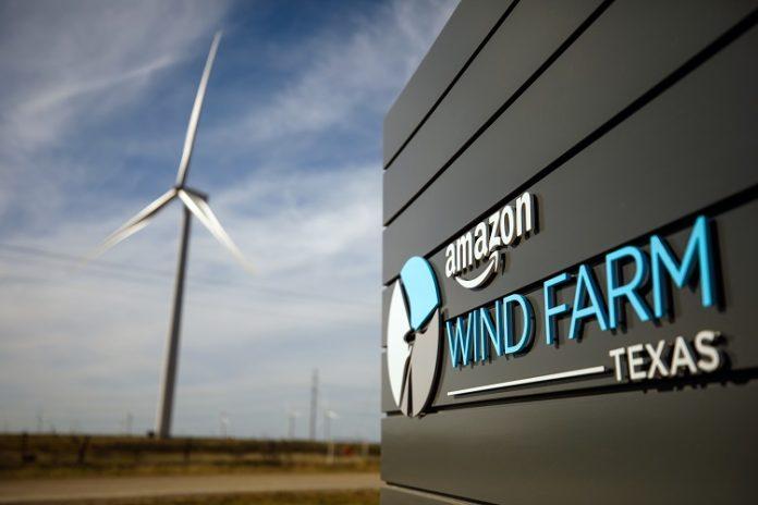 Amazon Wind Farm Texas Launch - energia eólica