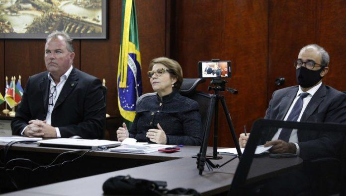 Ministra Tereza Cristina durante o lançamento do Plano Safra 2020